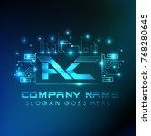 ac logo  technology logo  blue... | Shutterstock .eps vector #768280645