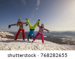 snowboard people have fun in... | Shutterstock . vector #768282655