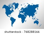 world map vector | Shutterstock .eps vector #768288166