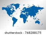 world map vector | Shutterstock .eps vector #768288175