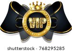 vip bow with golden elements | Shutterstock . vector #768295285