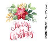 holiday greeting card with... | Shutterstock .eps vector #768299962