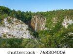 plitvice lakes national park ... | Shutterstock . vector #768304006