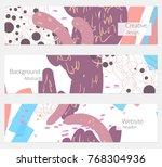 hand drawn creative universal... | Shutterstock .eps vector #768304936