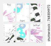 hand drawn creative universal... | Shutterstock .eps vector #768304972