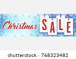 snowflakes christmas sale wide...   Shutterstock .eps vector #768323482