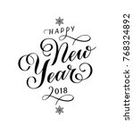 happy new year 2018... | Shutterstock .eps vector #768324892