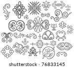 set of 27 stylized outlined...
