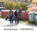 bran  romania  october 09  2017 ... | Shutterstock . vector #768335242