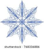 snowflake openwork blue