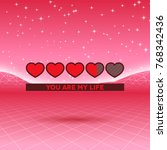 valentines day hearts of love...   Shutterstock .eps vector #768342436