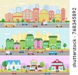 urban city landscape vector... | Shutterstock .eps vector #768345892