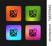 google maps four color gradient ... | Shutterstock .eps vector #768353662