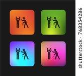 police arresting man four color ... | Shutterstock .eps vector #768354286