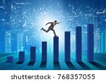 businessman running towards...   Shutterstock . vector #768357055