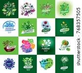 flower vector logo | Shutterstock .eps vector #768357505
