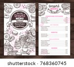 hand drawn vector template of... | Shutterstock .eps vector #768360745