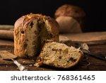 homemade panettone for... | Shutterstock . vector #768361465