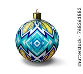 great christmas ball on white... | Shutterstock .eps vector #768361882