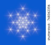 white snowflake icon on blue...   Shutterstock . vector #768362356