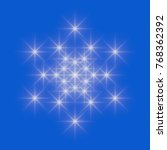 white snowflake icon on blue...   Shutterstock . vector #768362392