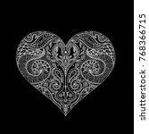 vector indian henna design for... | Shutterstock .eps vector #768366715