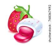 realistick chewing gum pellet... | Shutterstock .eps vector #768367492