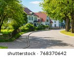 beautiful street with modern... | Shutterstock . vector #768370642