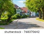 beautiful street with modern... | Shutterstock . vector #768370642