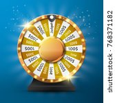fortune wheel vector background.... | Shutterstock .eps vector #768371182