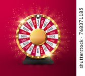 fortune wheel vector background.... | Shutterstock .eps vector #768371185