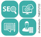 seo development icon set vector | Shutterstock .eps vector #768371722