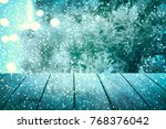 christmas table background. new ... | Shutterstock . vector #768376042