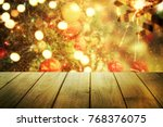 christmas table background. new ... | Shutterstock . vector #768376075