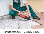 renovation of old floor.... | Shutterstock . vector #768376522