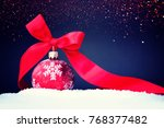 christmas red ball | Shutterstock . vector #768377482