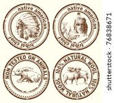 stamps indian chief | Shutterstock .eps vector #76838671