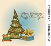merry christmas and happy new... | Shutterstock .eps vector #768388876
