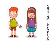 little kids group avatars... | Shutterstock .eps vector #768393385