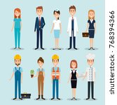 group of professional workers   Shutterstock .eps vector #768394366