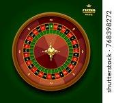 casino roulette wheel on dark... | Shutterstock .eps vector #768398272