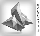 volume geometric shape  3d... | Shutterstock . vector #768398692
