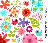 Stock vector spring flower background 76840261
