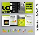 business brochure template...   Shutterstock .eps vector #768403168