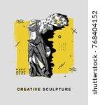 creative modern classical... | Shutterstock .eps vector #768404152