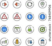 line vector icon set   right... | Shutterstock .eps vector #768409906