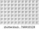 Abstract Square White Geometri...