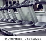 number of treadmills in an... | Shutterstock . vector #768410218