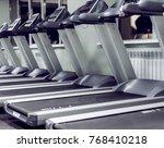 number of treadmills in an... | Shutterstock . vector #768410218