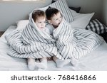 brothers play in two | Shutterstock . vector #768416866